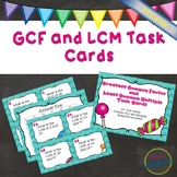 GCF and LCM Task Cards (Greatest Common Factor and Least C