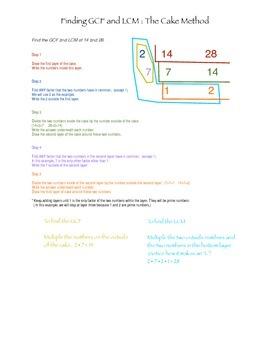 GCF and LCM - The Cake Method