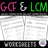 GCF and LCM Worksheets
