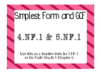 GCF and Simplest Form (Reducing Fractions)