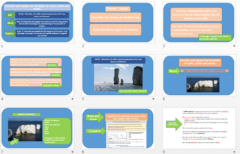 GCSE AQA 9-1 Coasts : The Formation of Caves, Arches and Stacks.