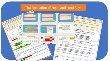 GCSE AQA 9-1 Coasts : The Formation of Headlands and Bays