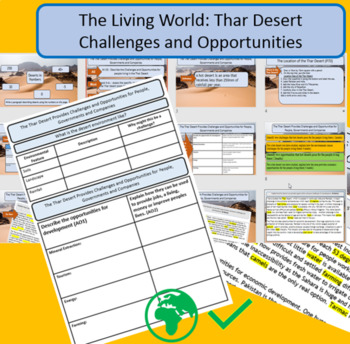 GCSE AQA 9-1 Thar Desert - Opportunities and Challenges, full lesson and support