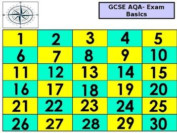 GCSE-AQA-Language Techniques- Pick a Number Game.