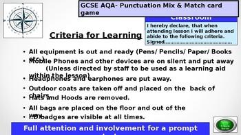 GCSE-AQA-Punctuation Mix & Match Flash Cards