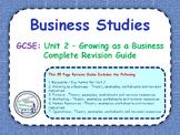GCSE Business Studies - Complete Revision Guide - Unit 2: Growing as a Busines