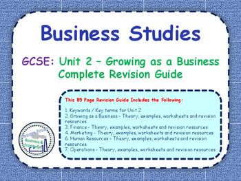 GCSE Business Studies - Complete Revision Guide - Unit 2: