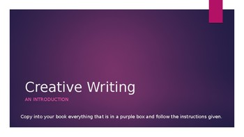 GCSE Creative Writing Lesson 1 of 7