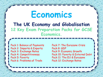 GCSE Economics Revision Packs: The UK Economy & Globalisation - OCR