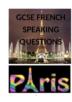 GCSE FRENCH SPEAKING QUESTIONNS