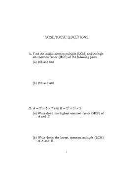 Igcse Math Worksheets & Teaching Resources | Teachers Pay