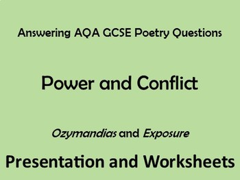 GCSE Power + Conflict Poetry - Sample Answers - Ozymandias
