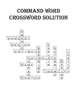 GCSE command word revision crossword