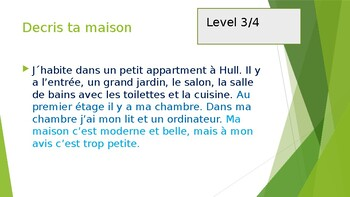 GCSE different level speaking answers FRENCH