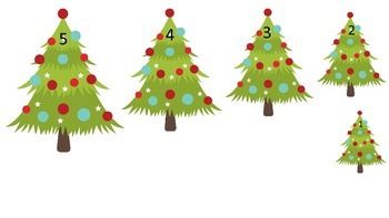 Christmas Holiday themed Size Sequence preschool activities.  Daycare curriculu