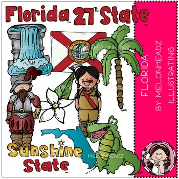 Melonheadz: Florida state clip art - COMBO PACK