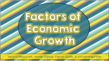 GDP: Four Factors of Economic Growth Notes & Fun Activities