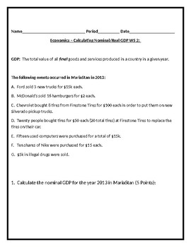 GDP Mini-Unit Packet
