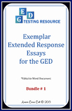 GED Extended Response Essay Exemplars: 5 Argumentative Essays + Structure Guide