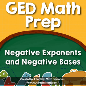 GED Math Prep: Negative Exponents and Negative Bases