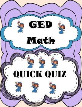 2017 GED Math Quiz