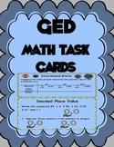 GED Math Task Cards