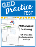 GED Practice Test Mathematical Reasoning No Prep