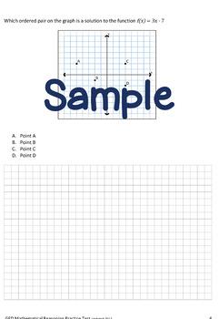 GED Practice Test Mathematical Reasoning No Prep