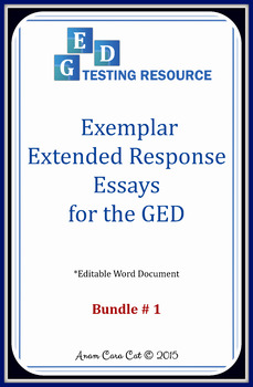 GED Prompts for Extended Response Essays