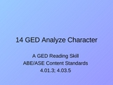 GED Reading Lesson 14 Analyzing Character