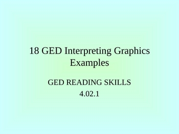 GED Reading Lesson 18 Interpreting Graphs Examples