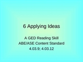 GED Reading Lesson 6 Applying Ideas