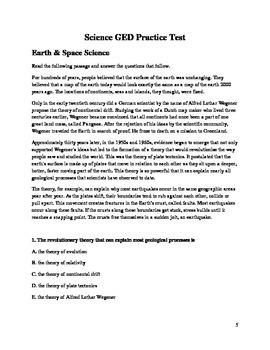 GED Science Prep Test 2