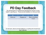 GEM Feedback Form for Professional Development Days