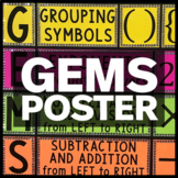 GEMS Order of Operations Poster, Bulletin Board, and Anchor Chart Pieces