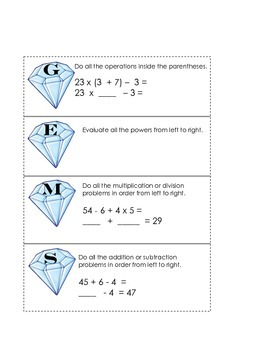 Order of Operations - GEMS