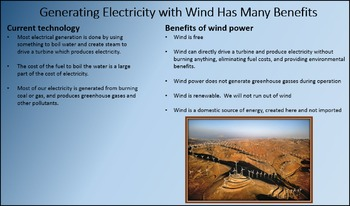GENERATING ELECTRICITY WITH WIND ENERGY