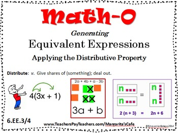 GENERATING EQUIVALENT EXPRESSIONS - Applying the Distributive Property