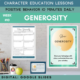 GENEROSITY   Google Slide   Positive Behavior   Daily Char