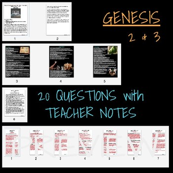 GENESIS PART TWO - TEACHER NOTES