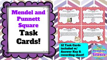 GENETICS: Gregor Mendel and Punnett Square TASK CARDS!