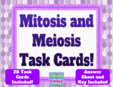 Distance Learning- GENETICS: Mitosis and Meiosis Task Cards!