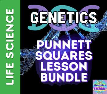 Distance Learning- Punnett Squares Lesson Bundle! Slides, notes, quizzes!