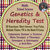 Genetics and Heredity Test: Genotype, Codominance, Homozygous, Alleles, & More