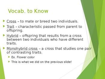GENETICS notes: Mendel's Work