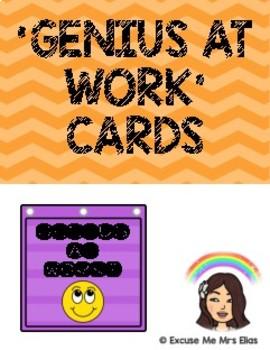 GENIUS AT WORK CARDS