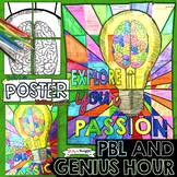 GENIUS HOUR AND PBL ACTIVITY COLLABORATIVE POSTER WITH WRITING PROMPT