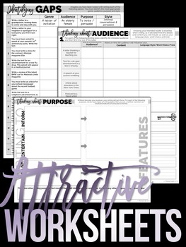 GENRE AUDIENCE PURPOSE STYLE: Tools for Teaching Writing