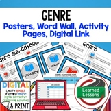 GENRE Anchor Charts, Posters, Word Wall, Scavenger Hunt Pages, Google Link