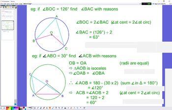 GEO 07 Angle Circle Theorems 1 & 2